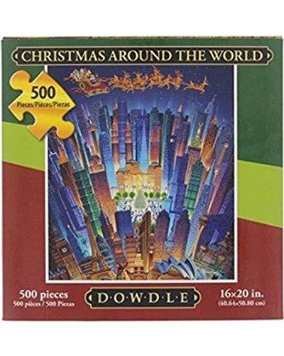 Dowdle Folk Art Christmas Around The World Jigsaw Puzzle, 500 Pieces -