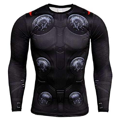 Thor Cosplay - Thor Compression Shirt Athletic Sports Quick