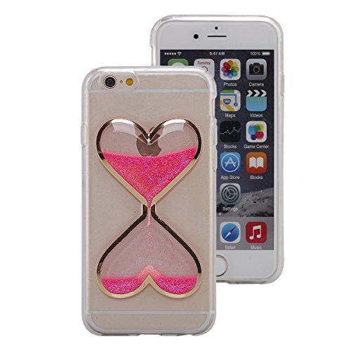 Price comparison product image UCLL Iphone 5/5S/SE Case,Time hourglass Design Case for Iphone 5/5S/SE with a Screen Protector (Pink)
