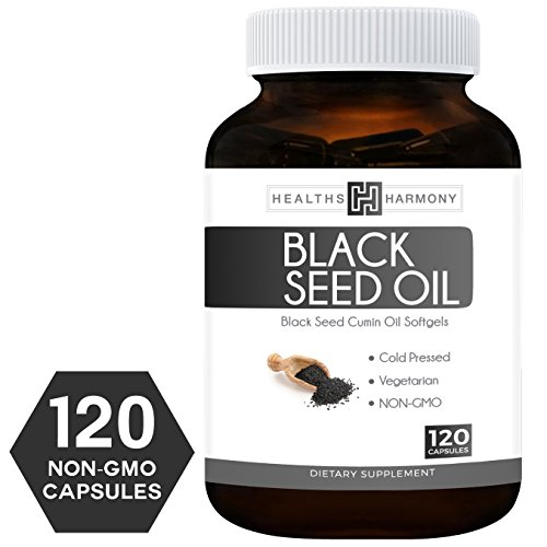 Black Cumin Seed (Best Black Seed Oil 120 Softgel Capsules (NON-GMO & Vegetarian) Made from Cold Pressed Nigella Sativa Producing Pure Black Cumin Seed Oil - Made in the USA - 500mg each (1,000mg Per Serving))
