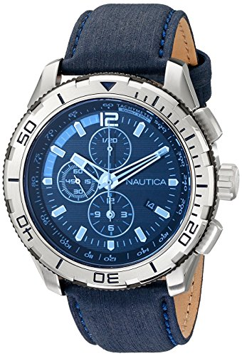 Nautica NAD19518G NST101 Stainless Leather