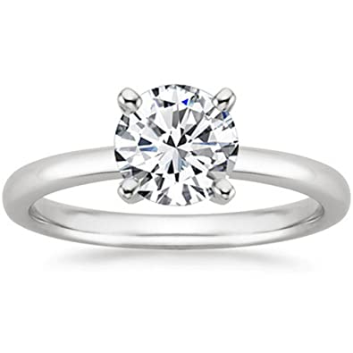 1 1 2 Carat 18K White Gold Round Cut Solitaire Diamond Engagement Ring (1.5  Carat H-I Color SI2-I1 Clarity)  4ec0a62e1