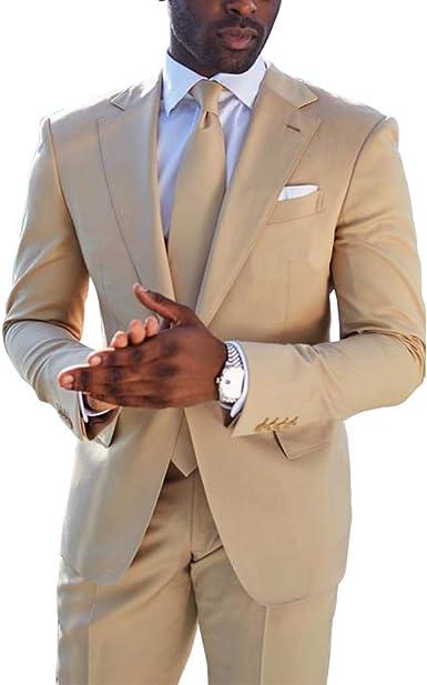 Yusky Mens Wedding Two-Button 2-Piece Slim Business Blazer Jacket Coat