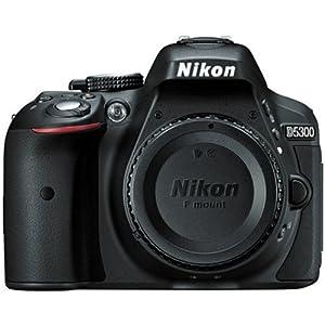 Nikon D5300 24.2 MP CMOS Digital SLR Camera (Black) With Nikon 18-55mm f/3.5-5.6G VR II AF-S DX NIKKOR Zoom Lens + 32GB Accessory Bundle International Version (No Warranty) by PHOTO4LESS