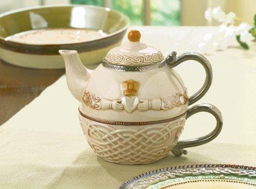 Grasslands Road Celtic 16 Ounce Claddagh Stacking Tea For