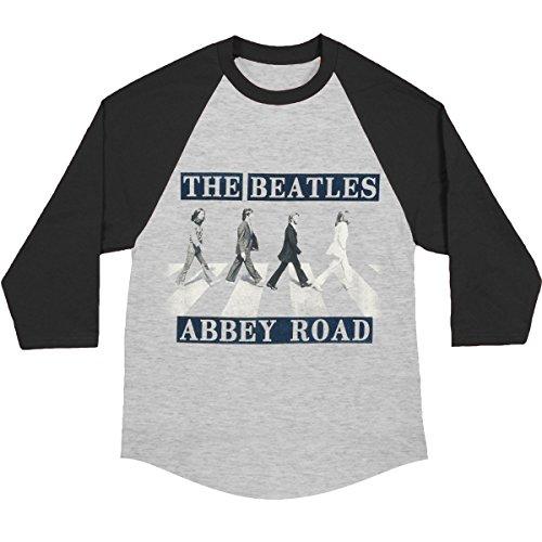 Beatles Men's Baseball Jersey X-Large Grey