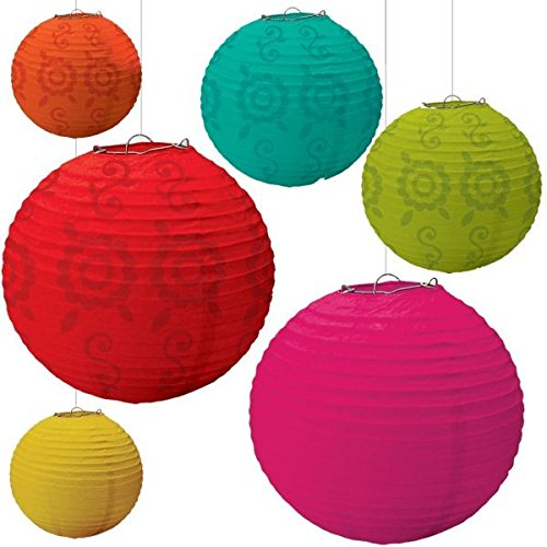 Fiesta Paper Lantern Value Pack Party Accessory (6-Pack) -