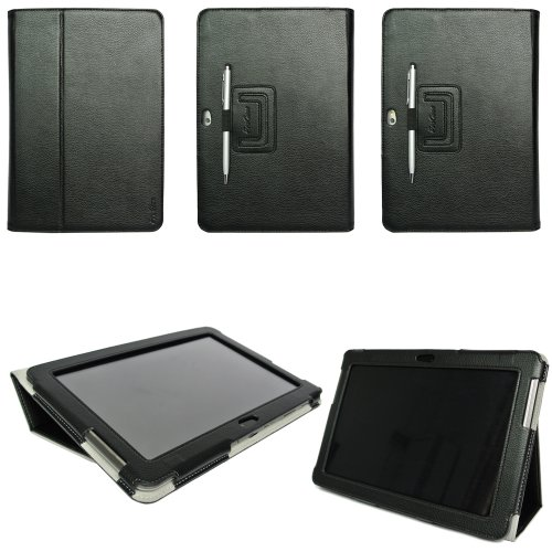 ProCase-Samsung-Galaxy-Tab-2-101-Case-Flip-Stand-Leather-Folio-Cover-Case-for-Samsung-Galaxy-Tab-2-101-Inch-Tablet-with-Stand-GT-P5110-P5100-Black