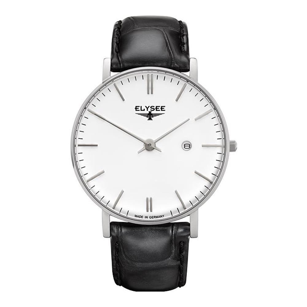 ELYSEE ZELOS RELOJ DE HOMBRE CUARZO 40MM CORREA DE CUERO CAJA DE ACERO 98000: Amazon.es: Relojes