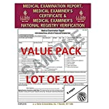 LOT OF 10 JJ KELLER 15-MP (6147) Medical Exam Report, Certificate, & National Registry Verification