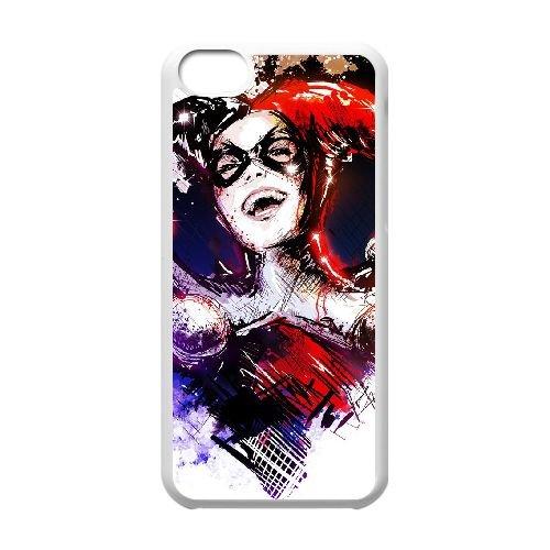 N6U68 Harley Quinn S4G8UD cas d'coque iPhone de téléphone cellulaire 5c couvercle coque blanche KR2NTW0XW