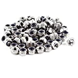 100 Pieces Stainless Steel 304HC Hex Nylock Nyloc Nut M6 A2-70