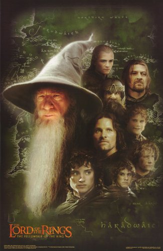 amazon com the lord of the rings poster the fellowship of the ring