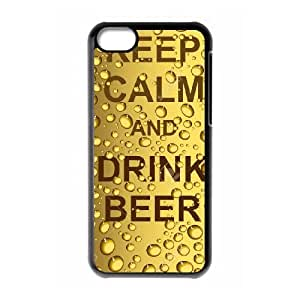 Keep Calm Drink Beer iPhone 5c Cell Phone Case Black E5915353