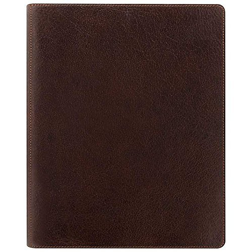 Filofax Heritage Leather Organizer Agenda Calendar A5 Compact Size in Brown with DiLoro Jot Pad Refills (A5, Brown 2017, - Brown Organizer A5