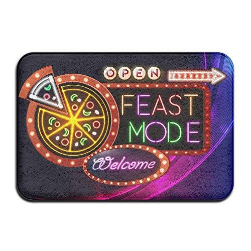 Feast Pizza - 7--PENG SIYAO Outdoor Indoor Pizza Lover Thanksgiving Feast Modedoormatswelcome Mat