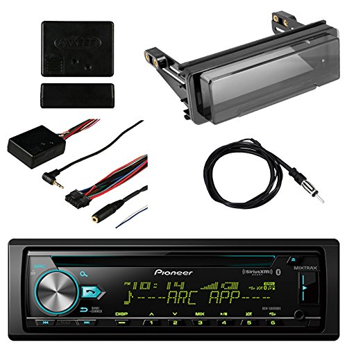 Pioneer Vehicle CD Digital Music Player Receivers with BluetoothMetra Axxess Universal Steering Wheel Control, Metra Radio Cover Kit For Harley-Davidson Touring Motorcycle and Enrock Marine Antenna ()