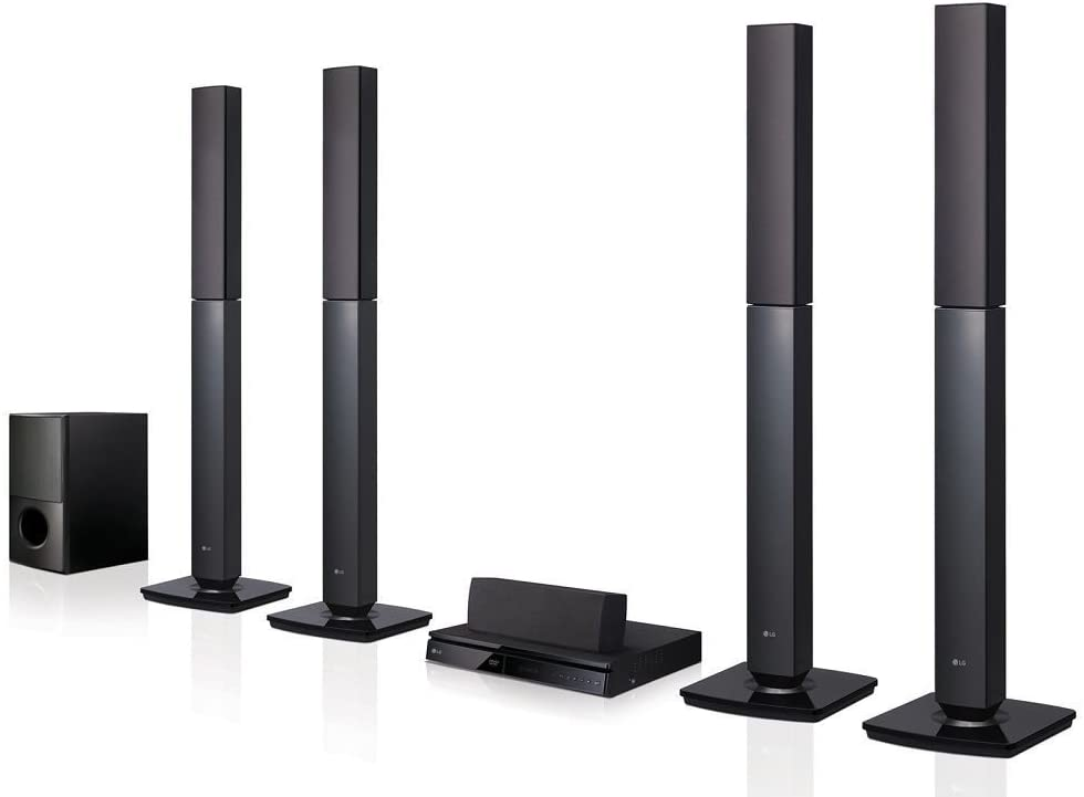 Amazon Com Lg Lhd657 Bluetooth Multi Region Free 5 1 Channel Home Theater Speaker System W Free Hdmi Cable 110 240 Volt Home Audio Theater