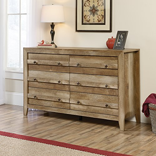 Sauder Dakota Pass 6 Drawer Dresser in Craftsman Oak