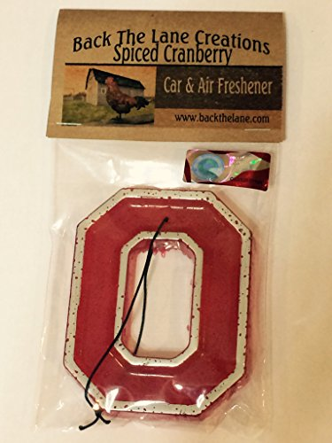 - Officially Licensed Ohio State University Block O auto air freshener Spiced Cranberry scent NCAA Big Ten Conference custom car