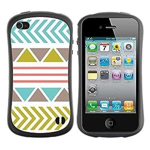 "Hypernova Slim Fit Dual Barniz Protector Caso Case Funda Para Apple iPhone 4 / iPhone 4S [Patrón de oliva trullo abstracto rosado""]"