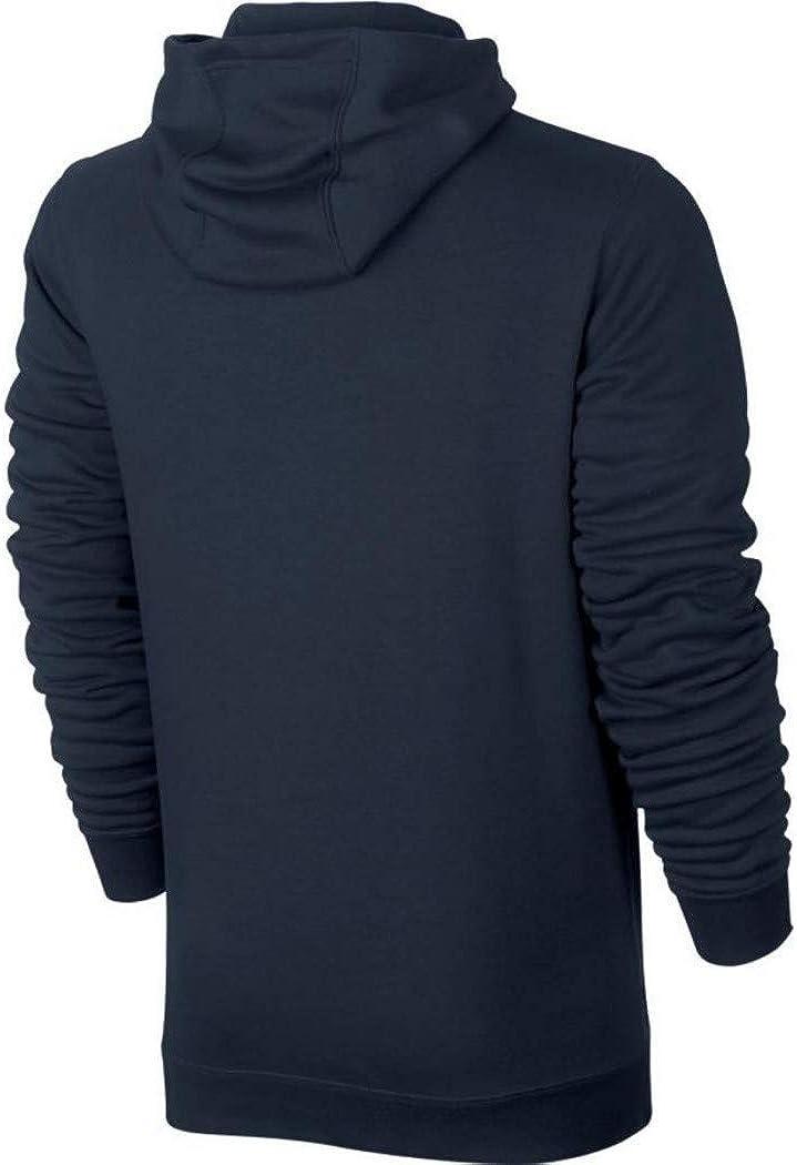 Nike Herren M NSW Club Fz Ft- 804391 Sweatshirt Blau (Obsidian/White)