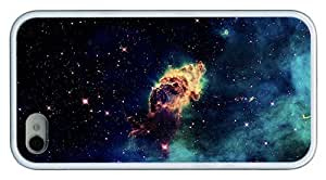 Hipster funny iPhone 4 cases andromeda nebula TPU White for Apple iPhone 4/4S