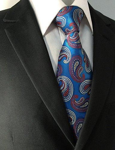WZW Herren Hals-Binder - Retro Niedlich Party Büro Freizeit Kunstseide Paisley-Blau Ganzjährig