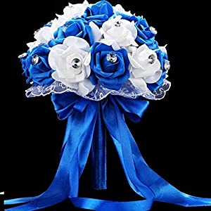 European and American Artificial Flower Simulation Bride Holding Flowers Foam Wedding Bouquet 14