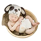 Baby Photography Prop Newborn Photo Shoot Outfits Crochet Costume Infant Boy Girl Knitted Clothes Puppy Hats Shorts