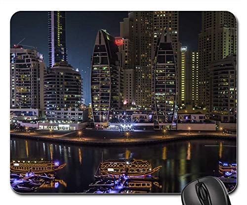 (Mouse Pads - Dubai Marina Arab United Emirates UAE Skyline)