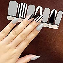 6 Different Sheets Shinny Full Nail Art Tips Stickers False Nail Design Manicure Sets (Style C)