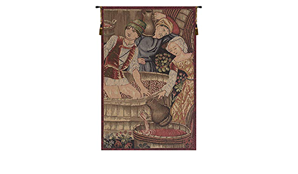 Amazon Com Charlotte Home Furnishings Inc Le Pressoir Extrait French Small Tapestry Wall Hanging Viscose Cotton And Polyester Blend Wall Art 19 In X 29 In Home Decor Accents Everything Else