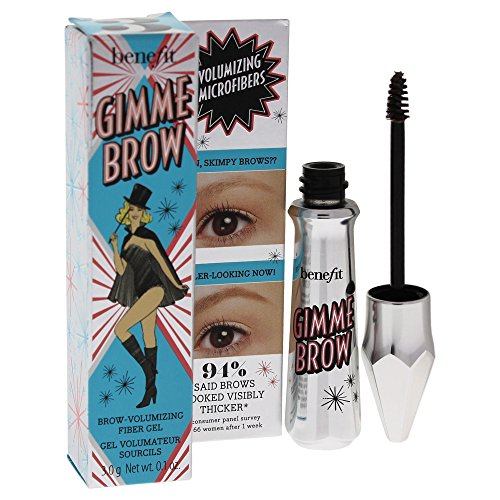 Benefit Gimme Brow Volumizing Fiber Gel, No. 3 Medium, 0.1 Ounce - 0.1% Gel