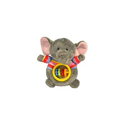 Baberoo Soft Stuffed Animal Toy Abacus Rattle for Babies, Elephant, 5 Inches : Baby