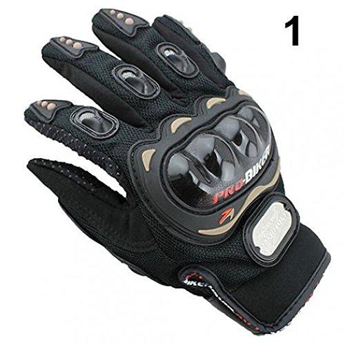 geshiintel Motocross Racing Pro-Biker Motorcycle Motorbike Cycling Full Finger Gloves M/L/XL - Black XL