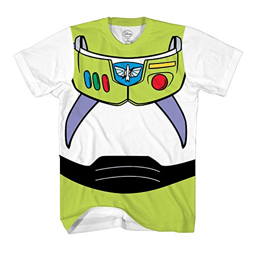 Disney Toy Story Buzz Lightyear Astronaut Costume Adult T-Shirt (Large, Buzz)]()