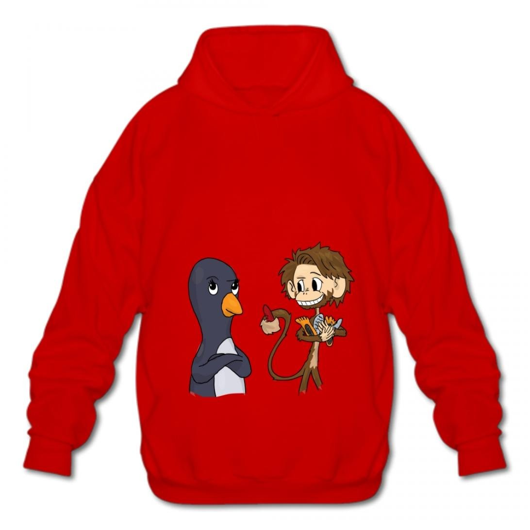 Gizhongqu Mens Hoodies Fashion Sweatshirt Cotton Pullover Fashion Hoodies-03 Cartoon Monkey vnfa