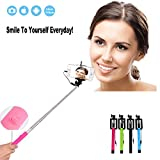Ctronics Extendable Wired Handheld Selfie Stick Monopod Extendable For iPhone 6, 6 Plus 5 5S 5C 4S, Samsung Galaxy S5 S4 S3 Note 4 3 2, HTC One, Google Nexus, LG¡,Sony and Other IOS or Android Smartphones (Green)