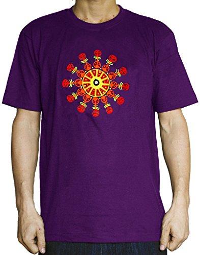 Circles Torino - ImZauberwald Torino Mirror Crop Circle T-Shirt Real Mirror Fractal Mandala
