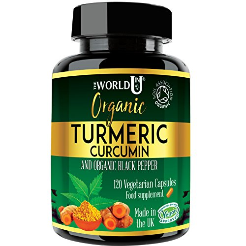 Ultra Pure Organic Turmeric Curcumin and Organic Black Pepper Capsules -...