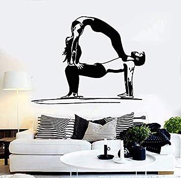 Vinilo tatuajes de pared de yoga pareja vida sana deportes ...