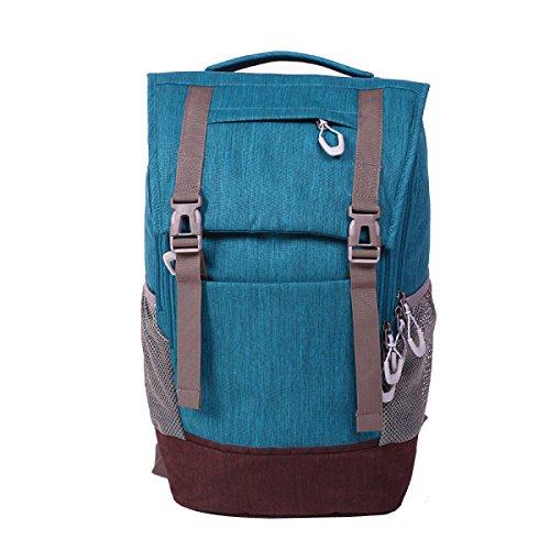 Hombres Y Mujeres Viajes Senderismo Excursionismo De Alta Capacidad Resistente Al Agua Llevar Una Bolsa De Hombro Blue