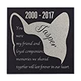 Cheap Half Cat Face Cat Memorial Personalized Grave Stone For Cat | Granite