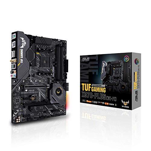 ASUS TUF X570-PLUS Wi-Fi Scheda Madre Gaming AMD X570 PCIe 4.0, Doppio M.2, Wi-Fi, 14 Fasi di Alimentazione Dr. MOS…