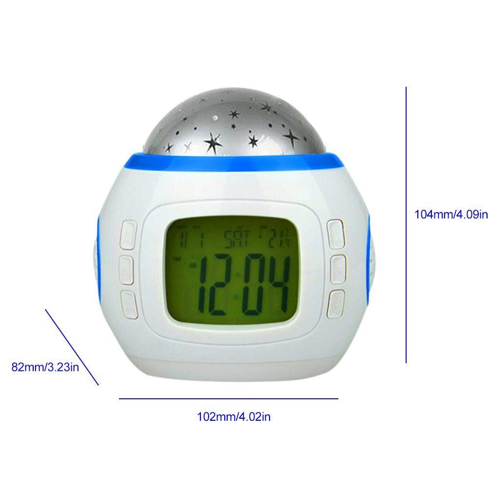 Horloges /à projection enfants veilleuse lumineuse innovante /étoil/ée Sky Star Projecteur Lampe Chambre Petit r/éveil pour enfants avec musique