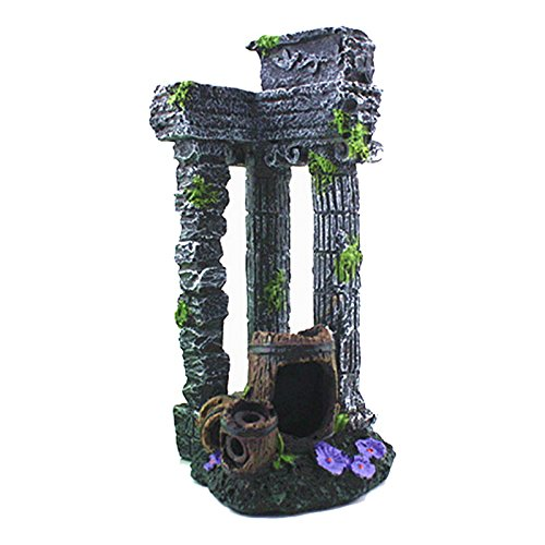 Autumn Water Resin Aquarium Decoration Retro Roman Column