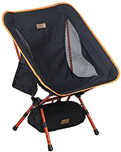 Trekology YIZI GO Portable Camping Chair with Adjustable Height - Compact Ultralight Folding Backpacking Chairs in a Carry Bag, Heavy Duty 300 lb Capacity, for Hiker, Camp, Beach, Outdoor