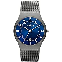 Skagen Men's Sundby Quartz Titanium and Stainless Steel Mesh Casual Watch, Color: Grey (Model: 233XLTTN)