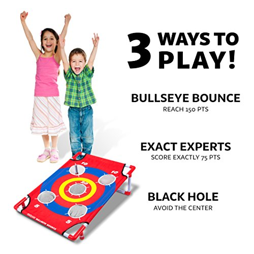 5191zxgZjqL - GoSports Bullseye Bounce Cornhole Toss Game - Great for All Ages & Includes Fun Rules